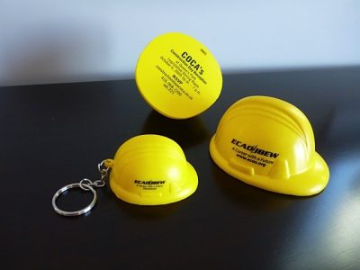 Hard Hat Stress key chain